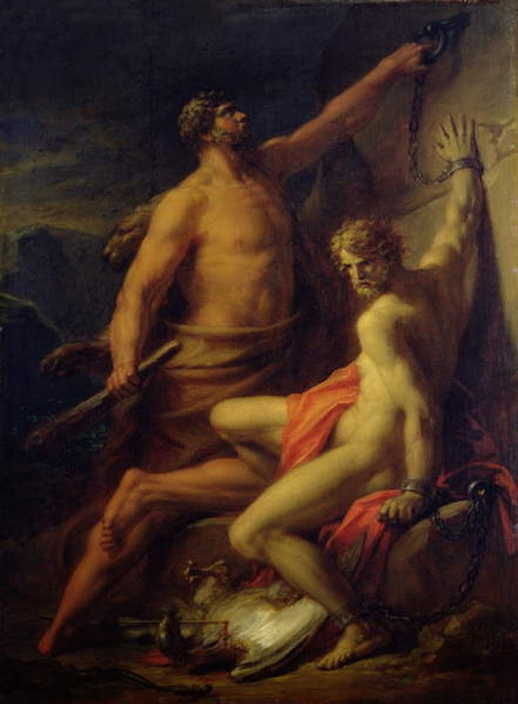 Detail of Hercules Freeing Prometheus, 1817 by Friedrich Heinrich Fuger