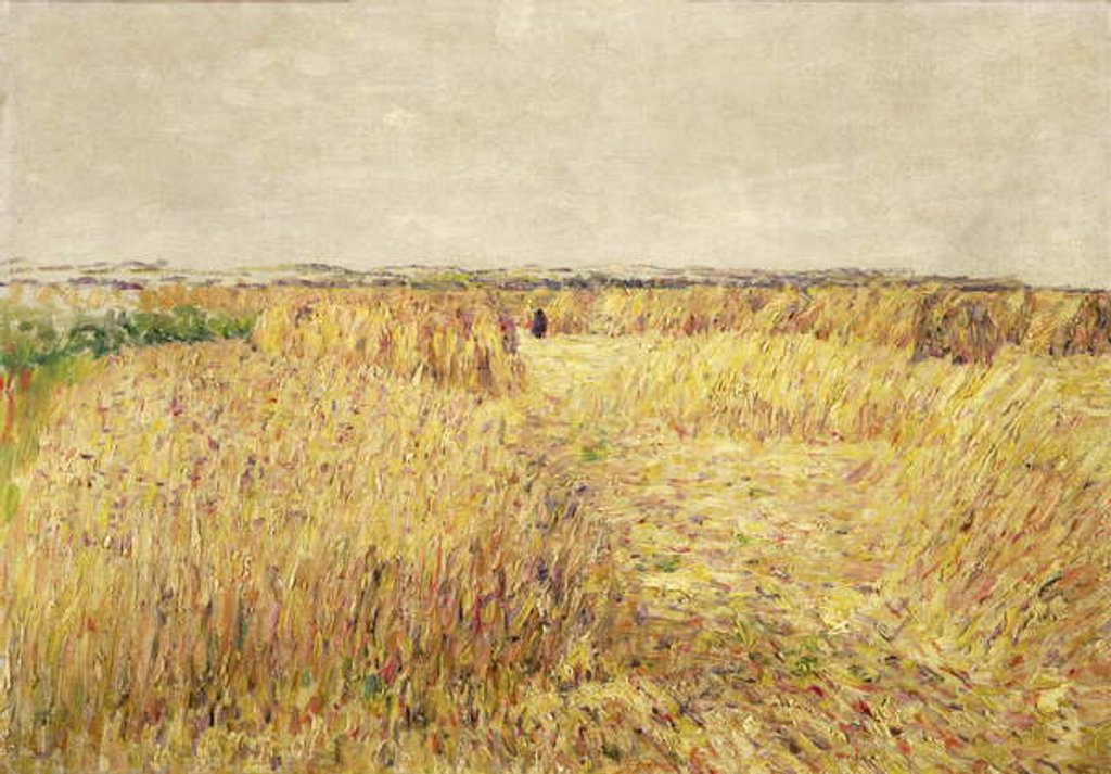 Detail of Corn Fields in front of a Chain of Sand Dunes by Paul Baum