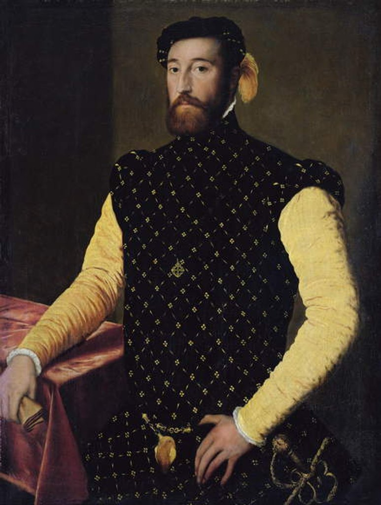 Man wearing the Cross of the Order of Alcantara, c.1550-5 by Spanish School