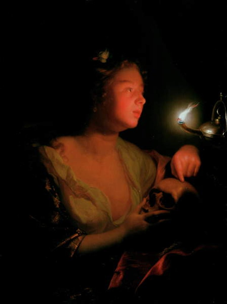 Detail of Mary Magdalene Grieving by Godfried Schalcken