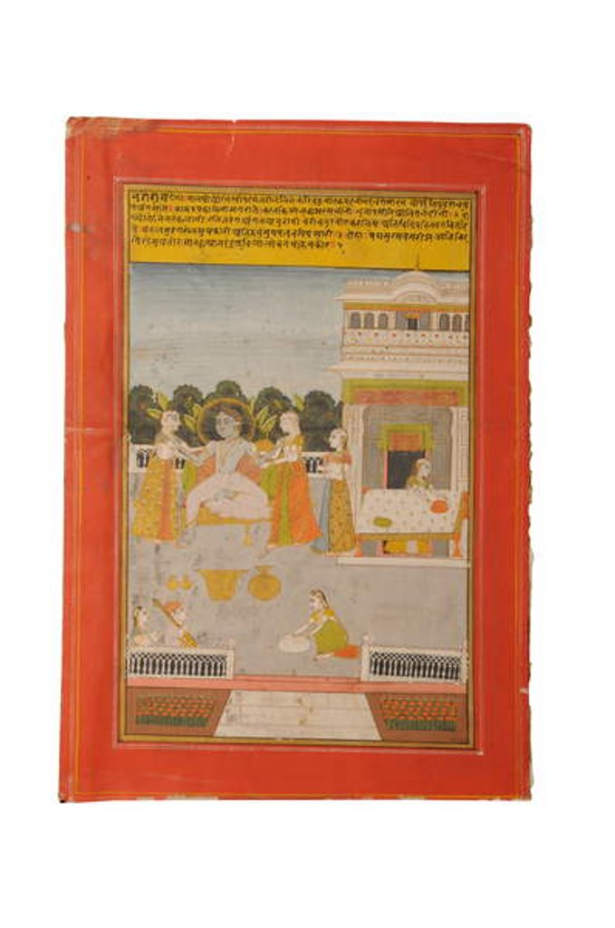 Detail of Ragamala miniature painting, Rajasthan probably Bundi, early 19th century by Rajasthani School