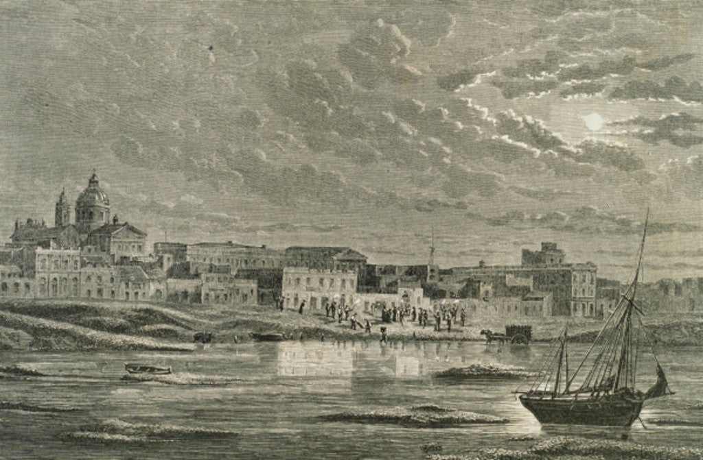 Detail of Buenos Aires in the 1860s by French School