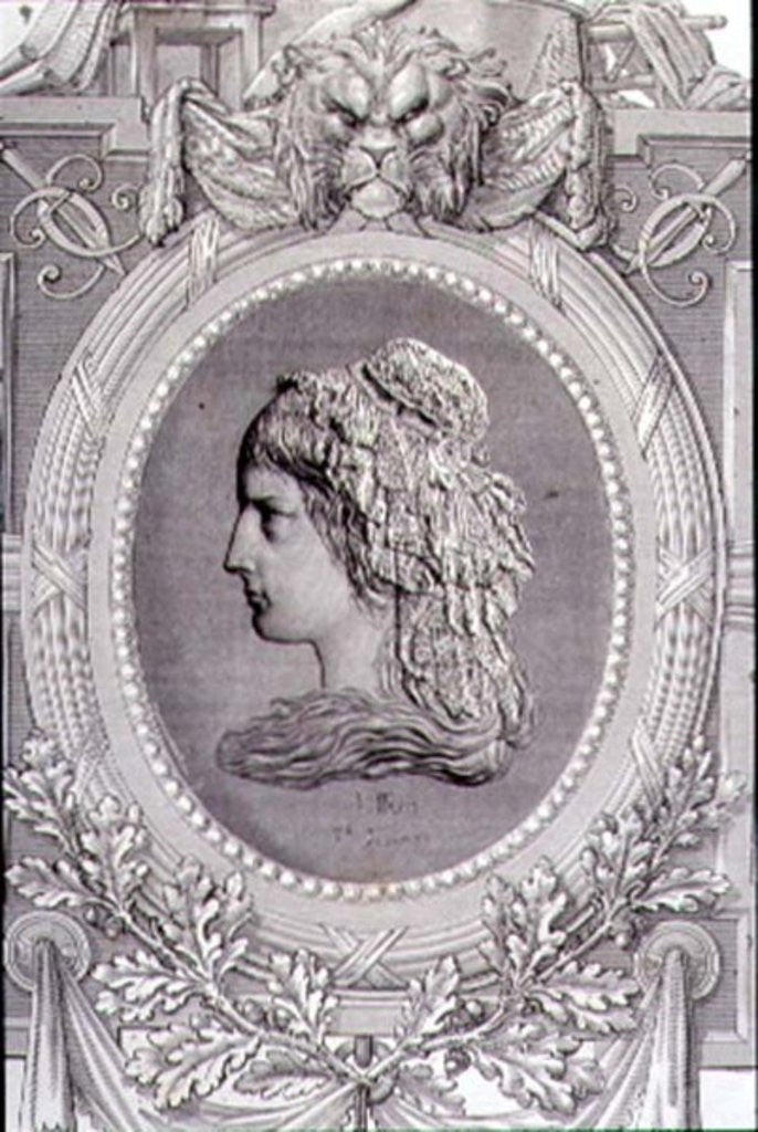 Detail of Charlotte Corday engraved by Stephane Pannemaker by Leopold Mar