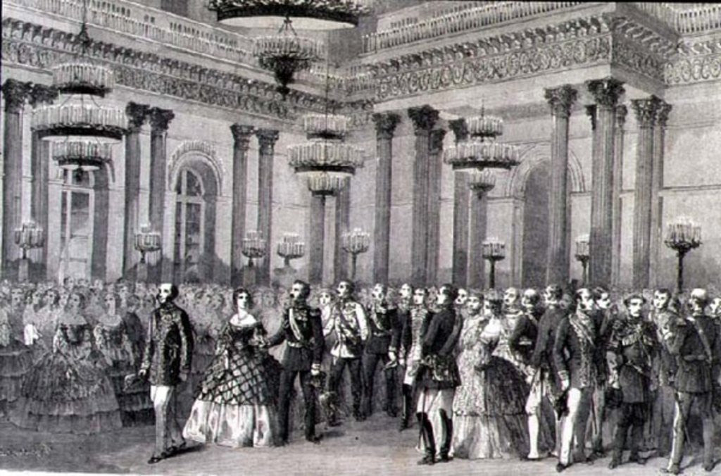 Detail of A St. Petersburg Ball in the 1860s by French School