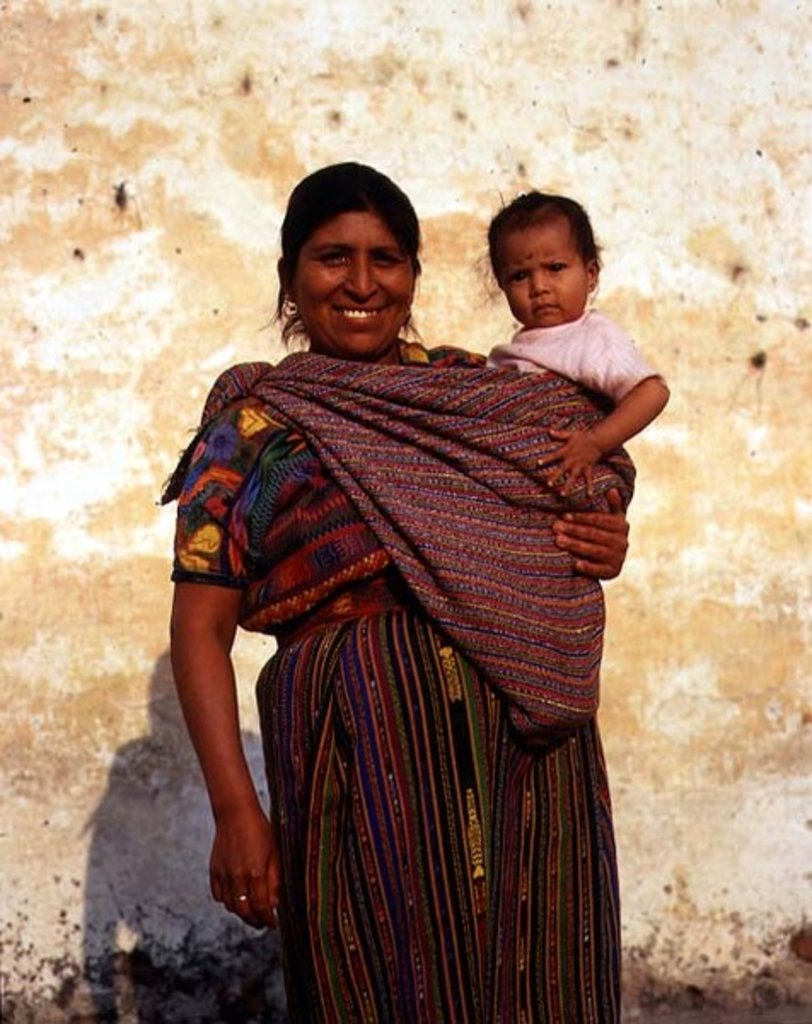Indian Mother and Child from the front