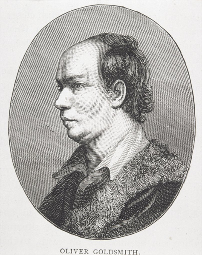 Detail of Oliver Goldsmith by English School