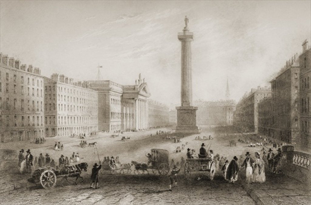 Sackville Street (now O'Connell Street), Dublin by William Henry Bartlett