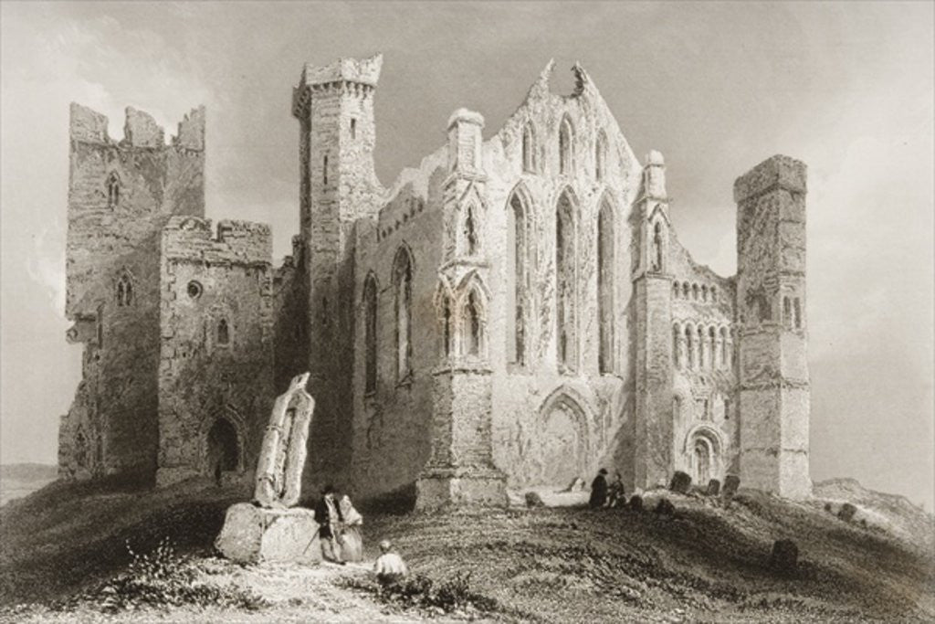 Detail of The Rock of Cashel, County Tipperary, Ireland by William Henry Bartlett