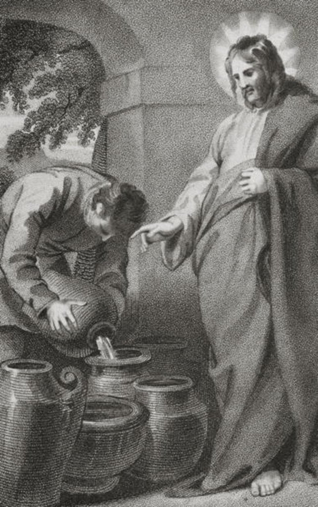 Detail of Christ Turning Water into Wine by William Hopwood