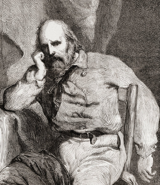 Detail of Giuseppe Garibaldi by French School