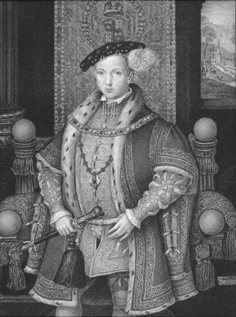 Detail of Portrait of King Edward VI by English School