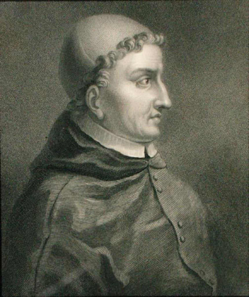 Detail of Cardinal Francisco Jimenez de Cisneros from 'Gallery of Portraits' by English School