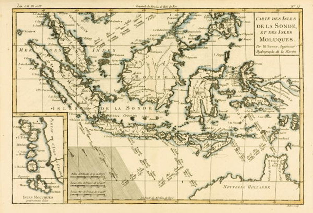 Indonesia and the Philippines by Charles Marie Rigobert Bonne