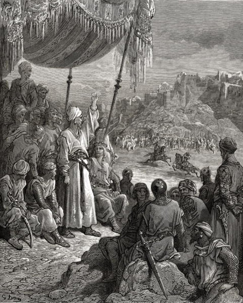 Detail of A Friendly Tournament during the Third Crusade in 1189 by Gustave Dore