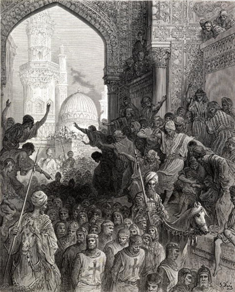 Detail of Arrival in Cairo of prisoners of Munich, illustration from 'Bibliotheque des Croisades' by J-F. Michaud by Gustave Dore