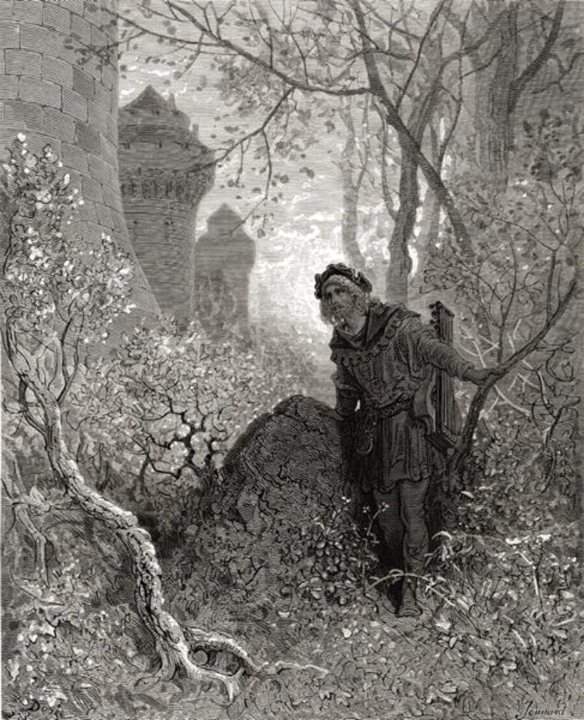 Detail of Blondel hears the voice of Richard the Lionheart by Gustave Dore
