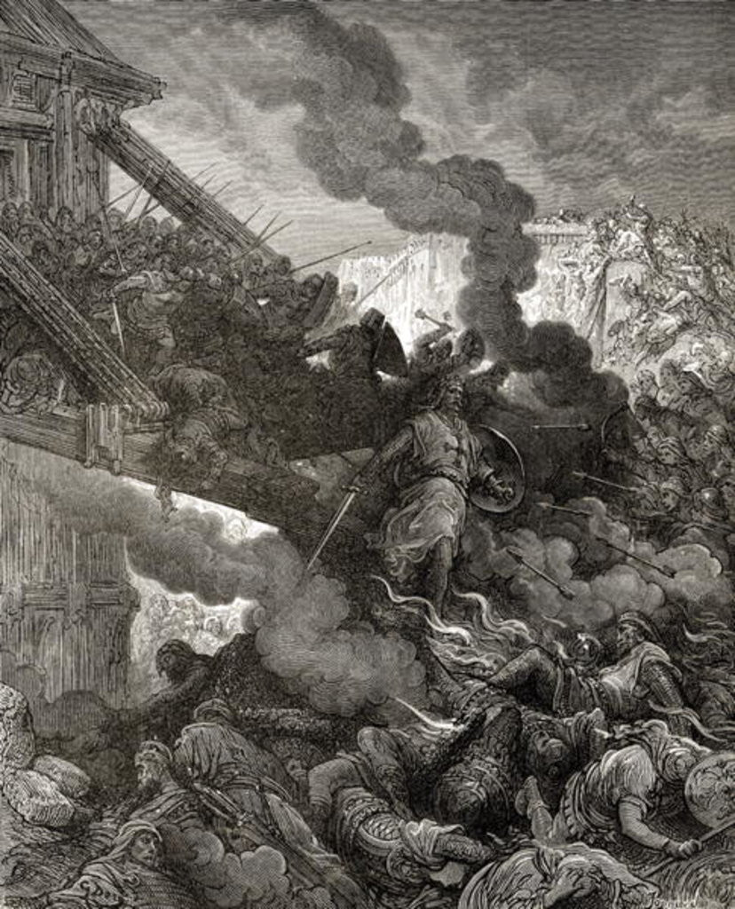 Detail of Godfrey enters Jerusalem by Gustave Dore