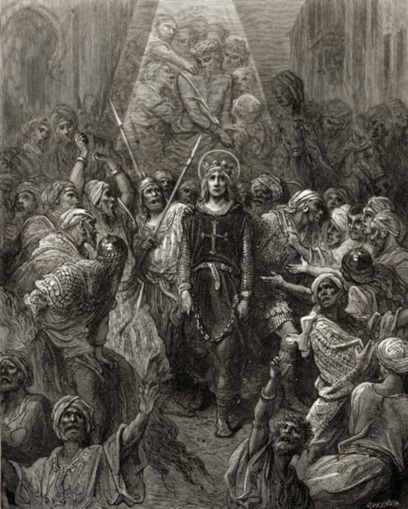 Detail of King Louis IX prisoner in Egypt by Gustave Dore