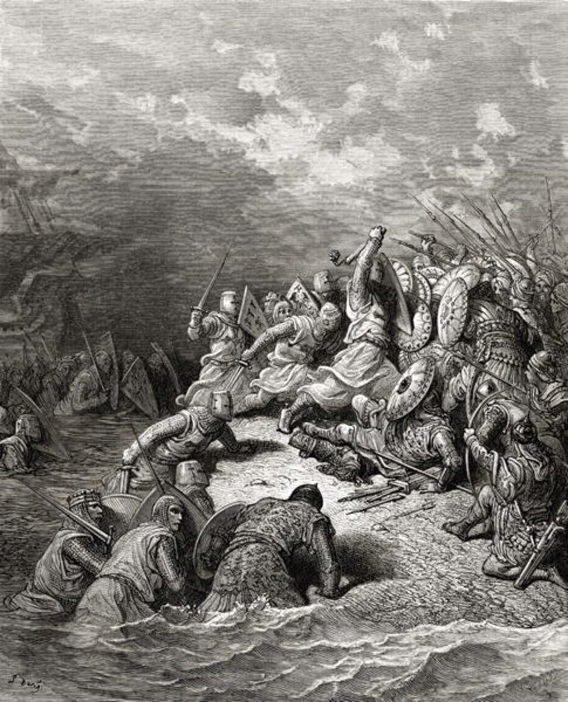 Detail of Richard I the Lionheart delivering Jaffa by Gustave Dore