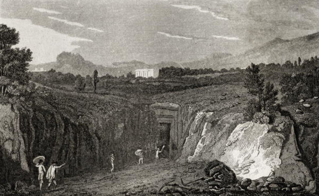 Detail of Excavation leading to the remains of Herculaneum by French School
