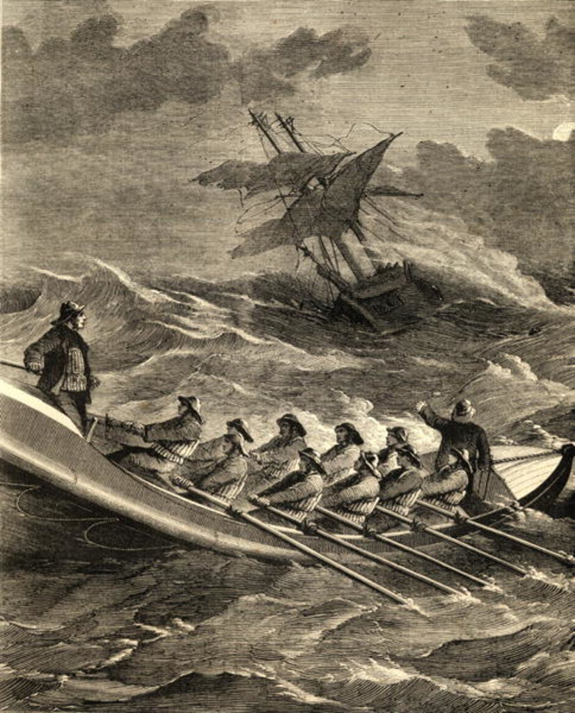 Detail of Lifeboat Going to the Rescue by English School