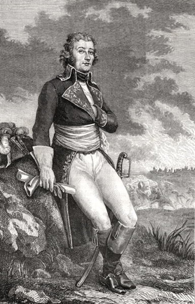 Detail of Jean Victor Marie Moreau from an engraving by Parmentier by French School