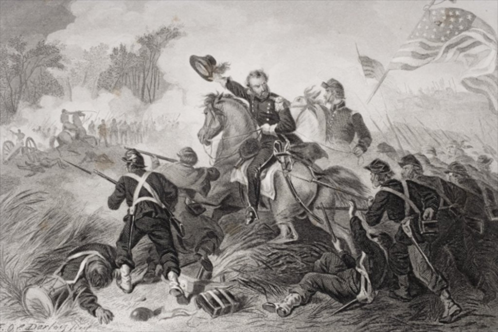 Detail of General Lyon's charge at the Battle of Wilson's Creek, Missouri by Felix Octavius Carr Darley