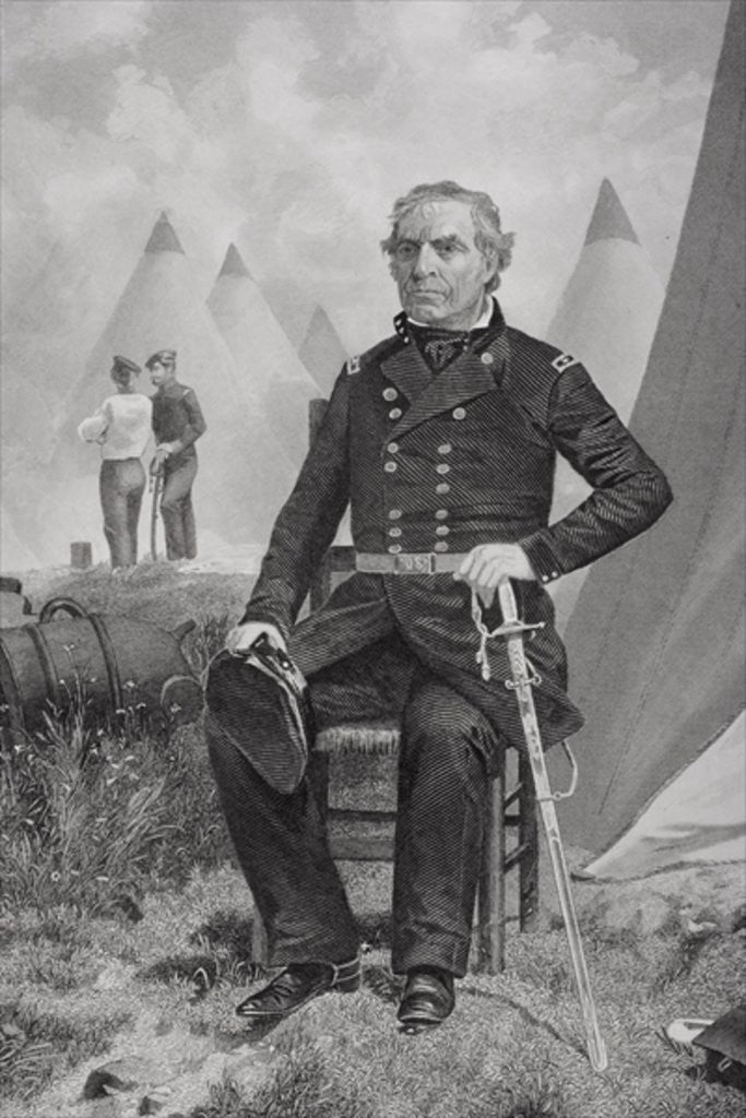 Detail of Portrait of Zachary Taylor by Alonzo Chappel