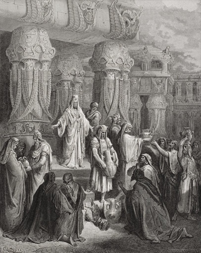 Detail of Cyrus Restoring the Vessels of the Temple by Gustave Dore