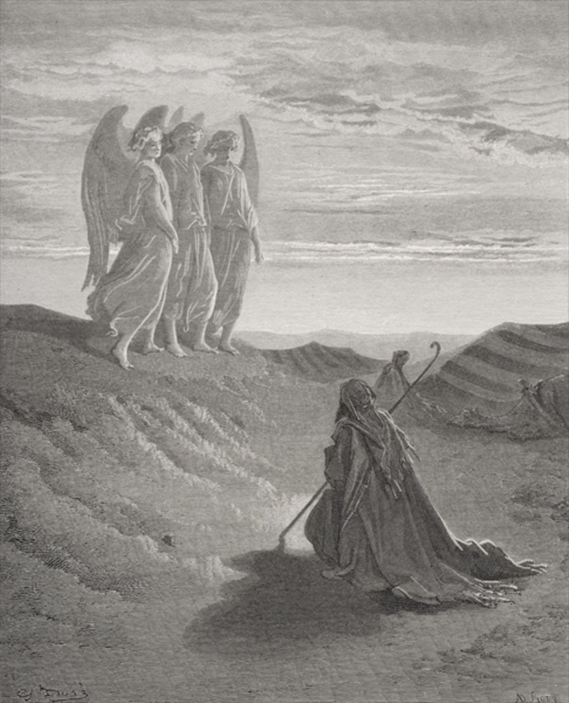 Detail of Abraham and the Three Angels by Gustave Dore