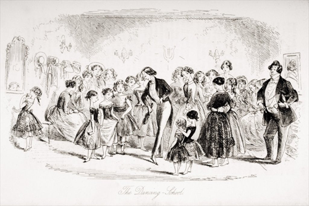 Detail of The Dancing School by Hablot Knight Browne