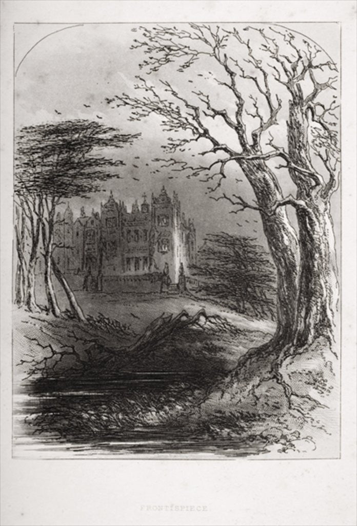 Detail Of Frontispiece From U0027Bleak Houseu0027 By Charles Dickens By Hablot  Knight Browne