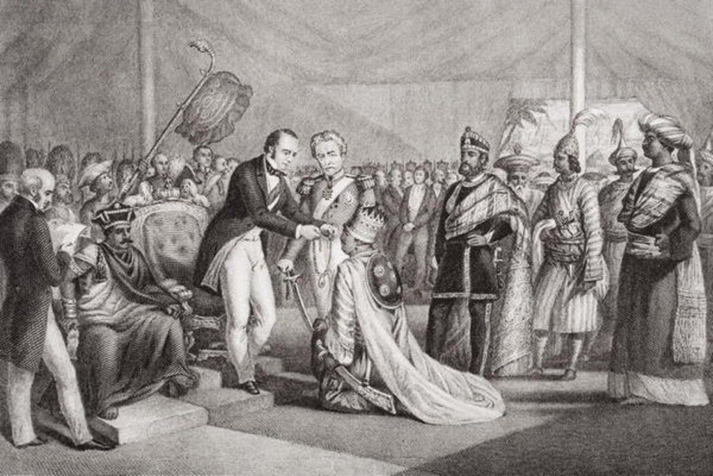 Detail of Grand Durbar at Cawnpore after the Suppression of the Sepoy Revolt, 1858 by Marshall Claxton