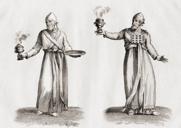 Detail of High priests as imagined in the Old Testament by Unknown Artist