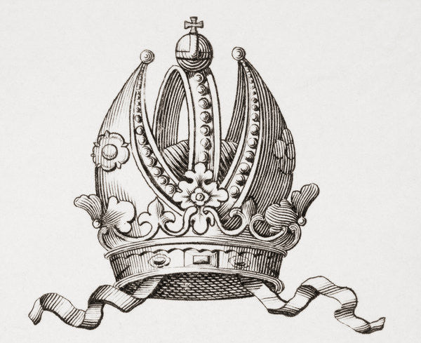 Detail of Crown of Charlemagne by Unknown artist