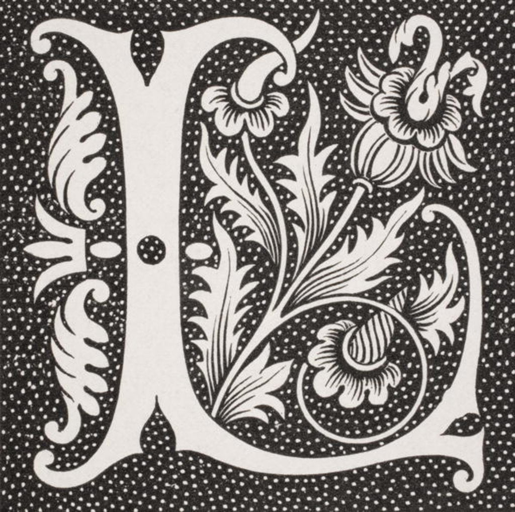 Detail of Decorated letter 'L' by French School