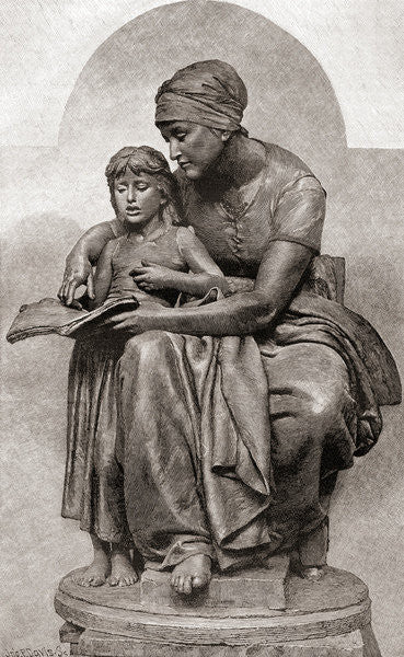 Detail of La Educación Maternal or Maternal Education by Eugene Delaplanche