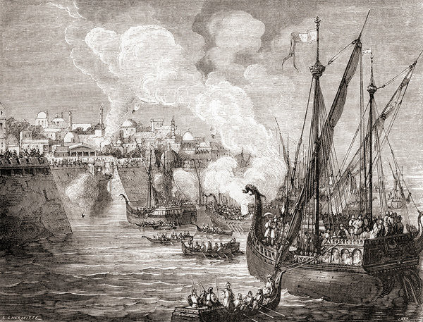 The Siege Of Constantinople In 1453 By Ottoman Sultan Mehmed Ii