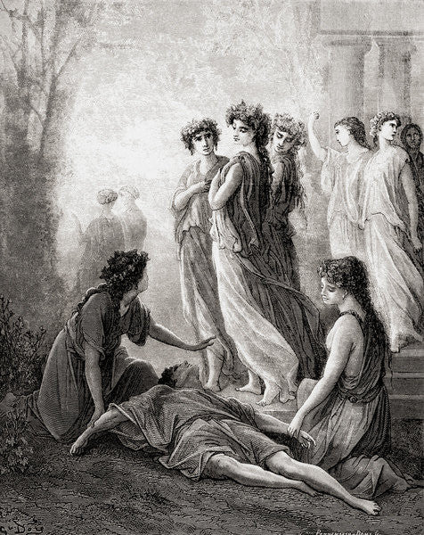 Detail of Daphnis et Alcimadure by Gustave Dore