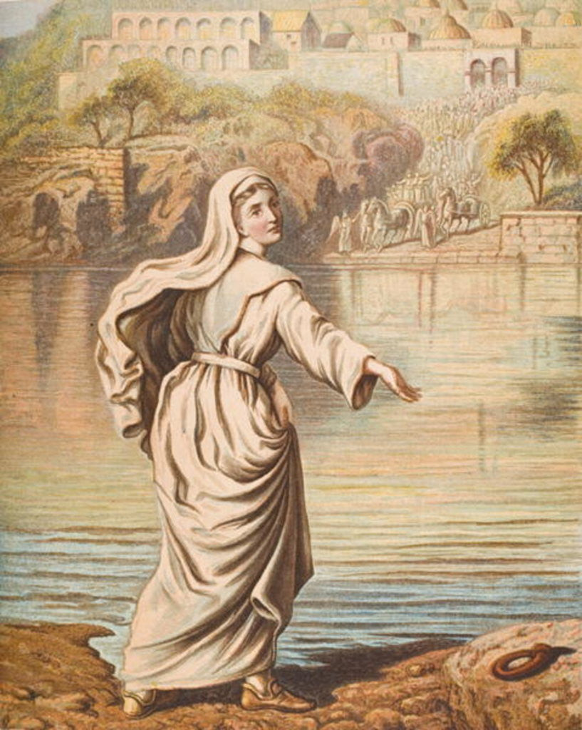 Detail of Christiana entering the river by English School