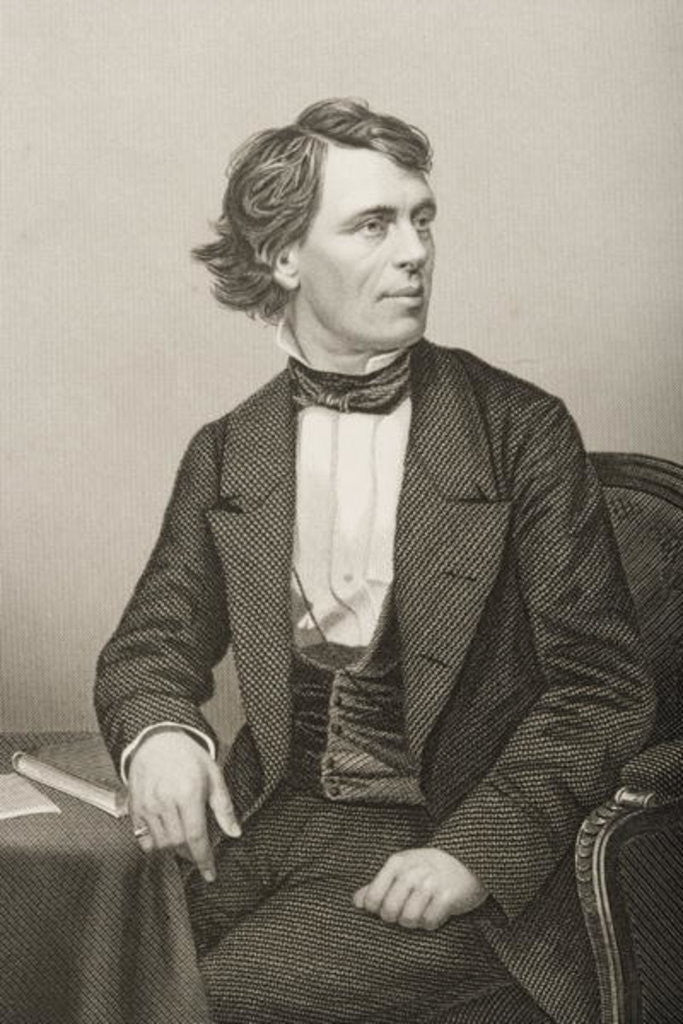 Detail of John Bartholomew Gough engraved by D.J. Pound from a photograph by John Jabez Edwin Paisley Mayall