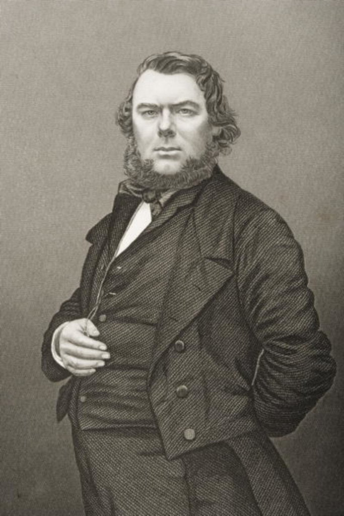 Detail of Hugh Stowell Brown engraved by D.J. Pound from a photograph by John Jabez Edwin Paisley Mayall