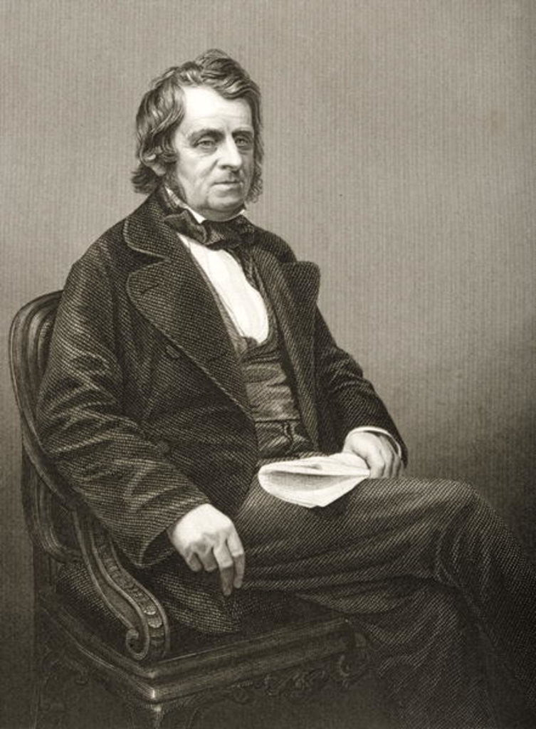 Detail of John Arthur Roebuck engraved by D.J. Pound from a photograph by John Jabez Edwin Paisley Mayall