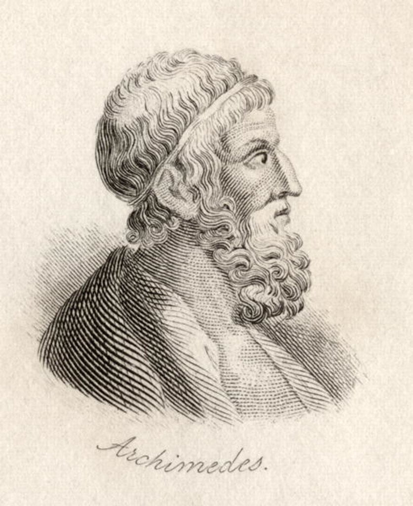 Detail of Archimedes of Syracuse by J.W. Cook