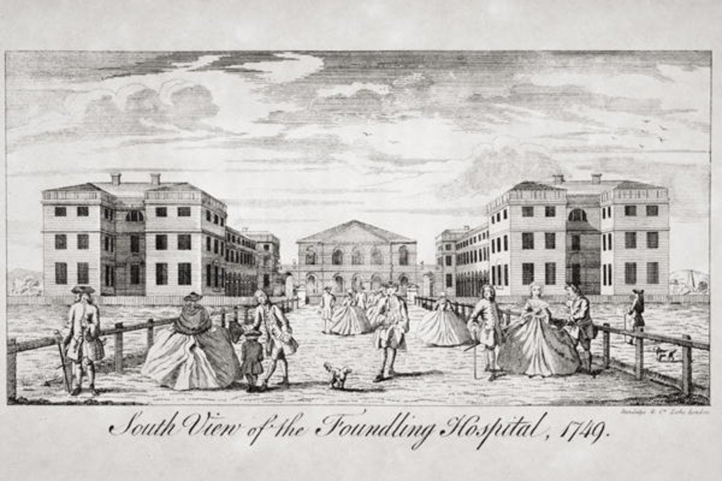 Detail of South view of the Foundling Hospital, London by English School