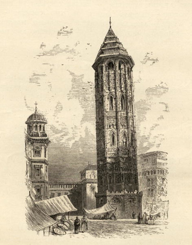 Detail of Leaning Tower Saragossa by English School