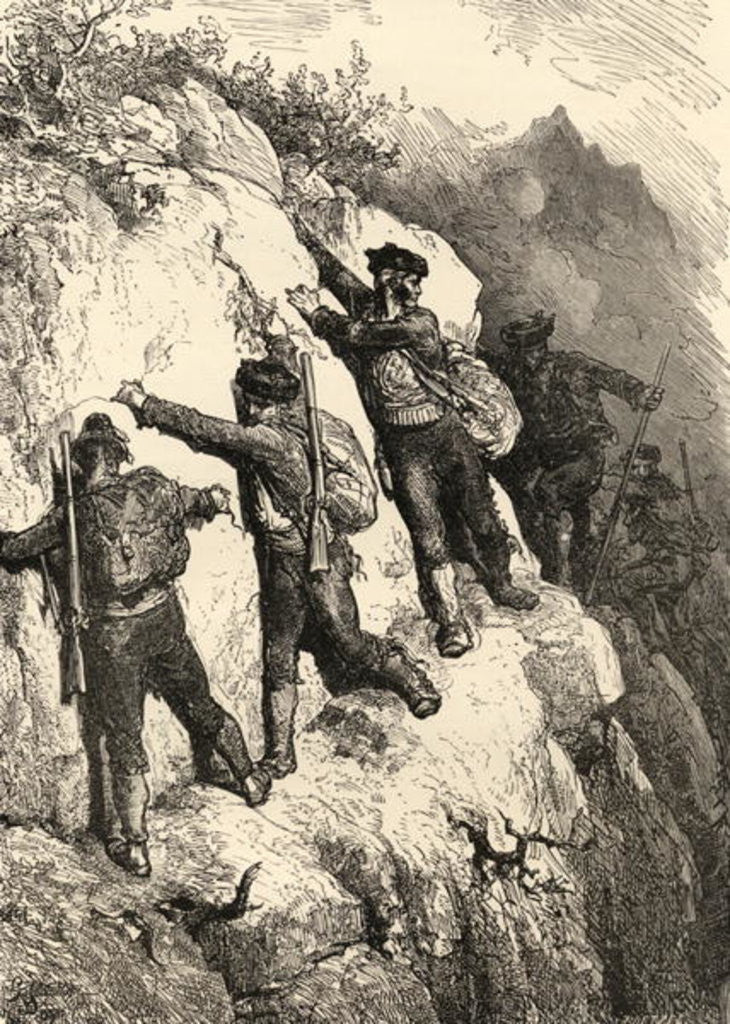 Detail of Spanish Contrabandistas by Gustave Dore