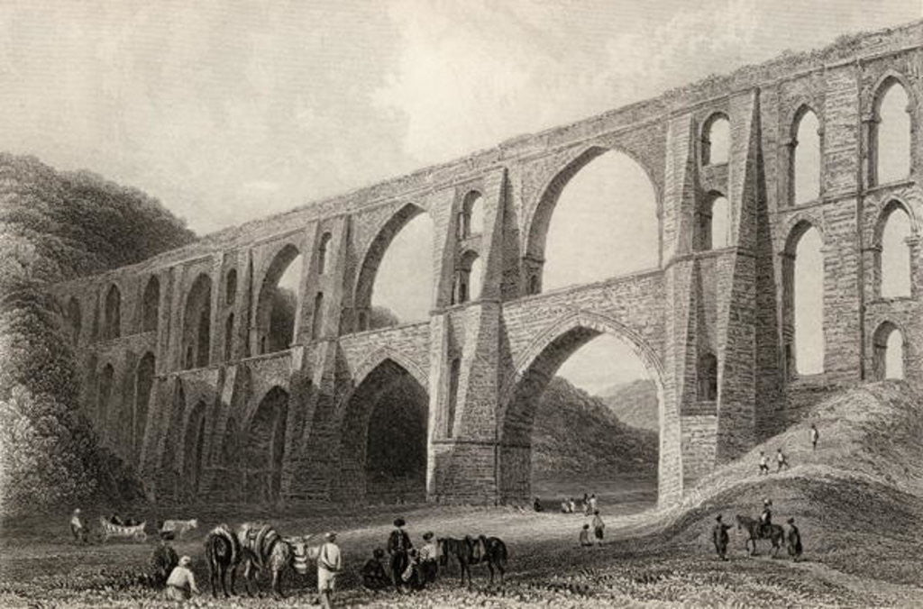 Detail of Aqueduct of the Emperor Valens, near Pyrgo, Turkey by William Henry Bartlett