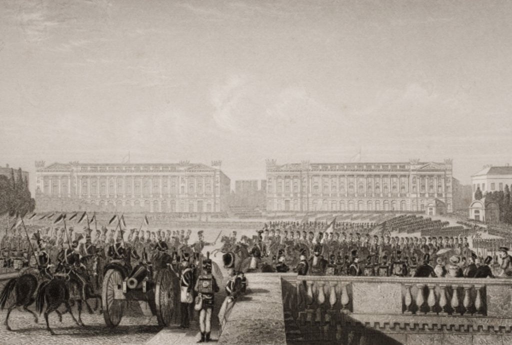 Detail of Entry of the Allies into Paris in 1815 by G.W. Terry