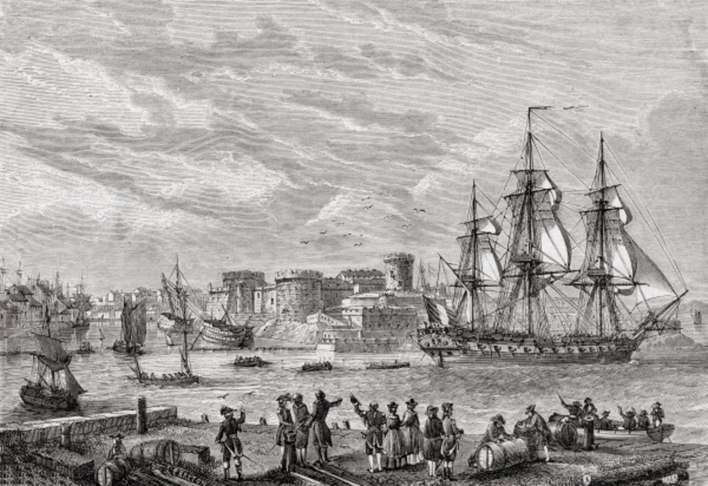 Detail of Brest in 1791 by French School
